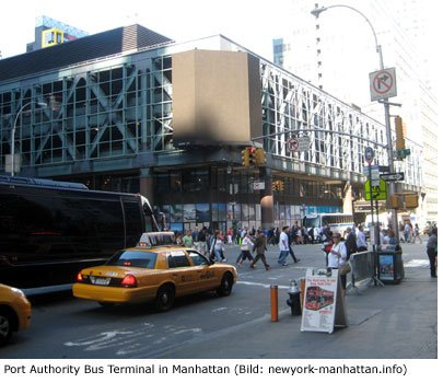 Bus Bahnhof in Manhattan New York City Port Authority Informationen