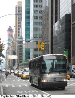 Stadt Bus New-York Manhattan