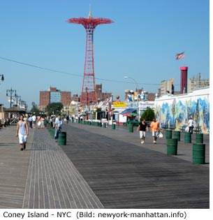 Coney Island Brooklyn New York City Vergnügungspark Achterbahn