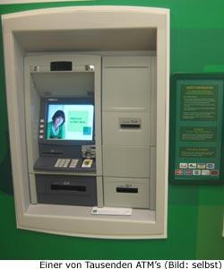 Geld abheben, Gebühren am Geldautomat New-York