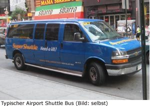 Shuttle Bus Hotel Flughafen New-York