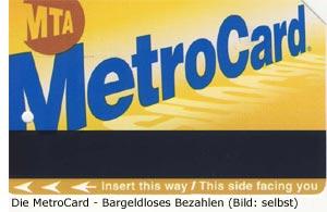 MetroCard Preis Tarif Verkauf New-York Manhattan Nahverkehr