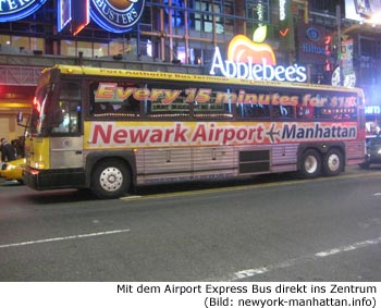 Newark Airport Express Bus Zentrum New-York
