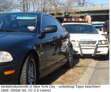 Verkehrskontrolle Polizei New-York USA Amerika