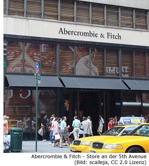 Abercrombie und Fitch Shop in Manhattan 5th Avenue New York Shoppen