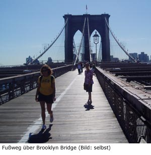 Brooklyn Bridge Sightseeing Sehenswürdigkeit New-York Manhattan