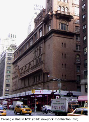 Carnegie Hall in New York City bzw. Manhattan Konzerte
