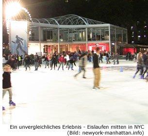 Eislaufen mitten in Manhattan bzw. NYC