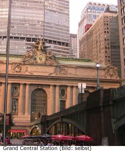 Bahnhof Grand Central Sightseeing Sehenswürdigkeit New-York Manhattan