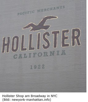 Hollister Shop in Manhattan Broadway Shoppen in NYC Beachmode Abercrombie und Fitch