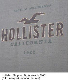Hollister Shop in Manhattan Broadway Shoppen in NYC Beachmode Abercrombie und Fitch