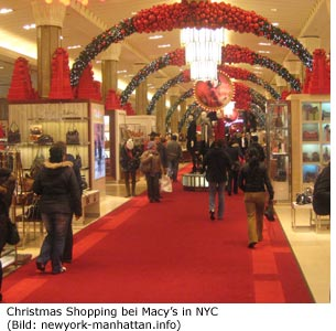 Macy's Manhattan Christmas Shopping