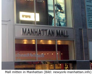 Manhattan Mall Shoppen mitten in NYC