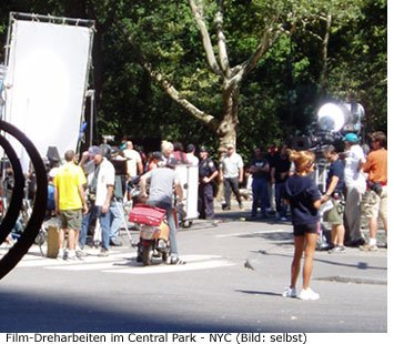 New York - Dreharbeiten im Central Park mit Cameron Diaz
