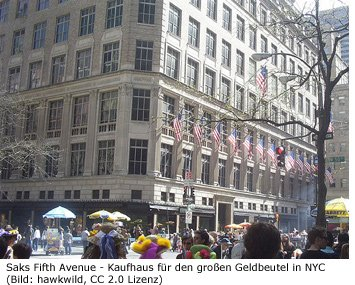 Saks Fifth Avenue New York Luxus Nobel Designer Kaufhaus Shoppen