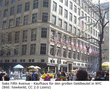 Saks Fifth Avenue New York Luxus Nobel Designer Kaufhaus Shoppen