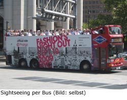 Bus Stadtführung sehenswürdigkeit sightseeing New-York Manhattan