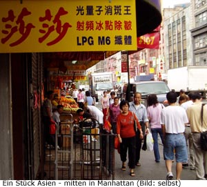 Chinatown in NYC Manhattan