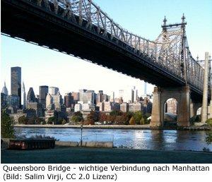 Queens Manhattan Brücke Bridge Verkehr Subway Bus